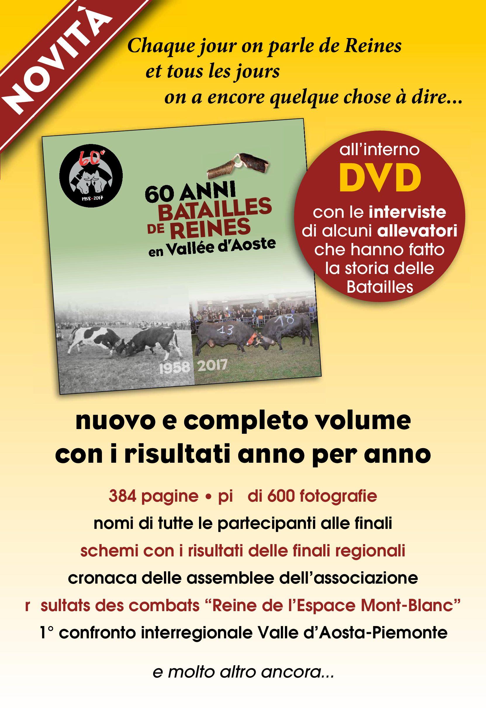 In vendita il LIBRO 60 ANNI DI BATAILLES DE REINES